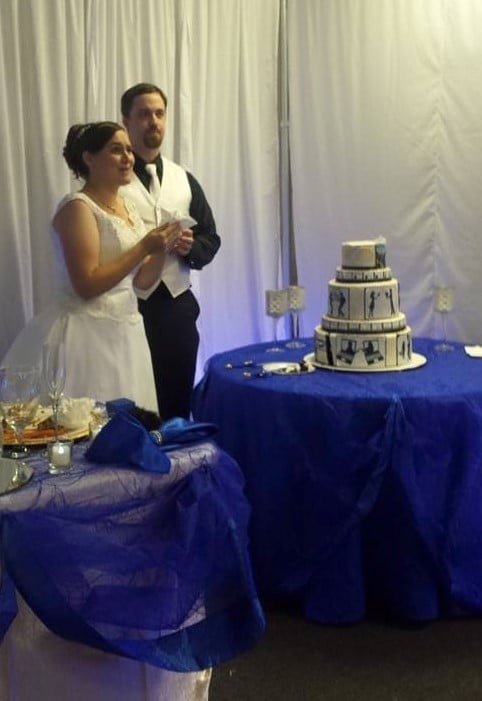 Royal Blue And White Wedding (3)