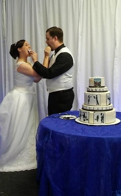 Royal Blue And White Wedding (4)